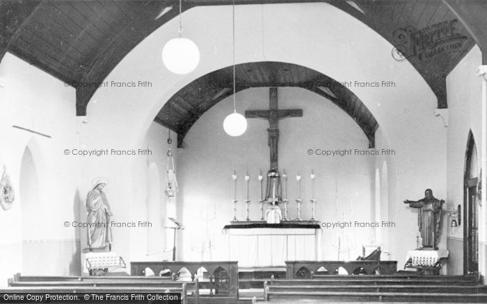 Photo of Aberkenfig, St Robert's Roman Catholic Church, Interior c.1960