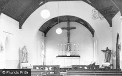 Aberkenfig, St Robert's Roman Catholic Church, Interior c.1960