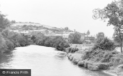 Aberkenfig, The Village From The Bridge c.1955