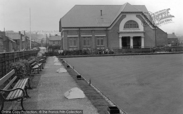 Photo of Aberkenfig, Welfare Hall And Bowling Green 1938