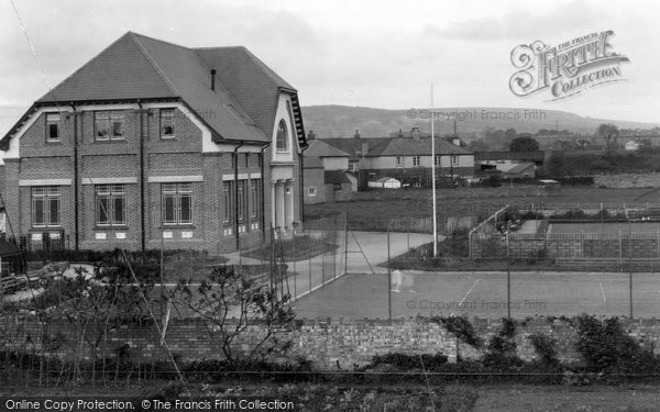 Photo of Aberkenfig, Welfare Hall And Tennis Courts 1938