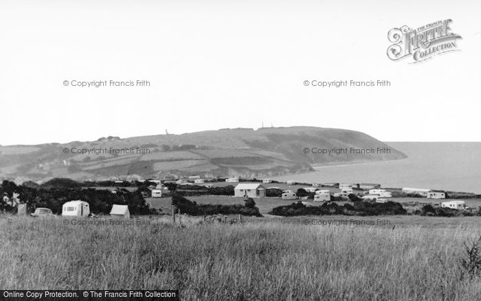 Photo of Aberporth, Helyg Fach Farm Caravan Site c.1960