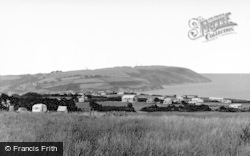 Aberporth, Helyg Fach Farm Caravan Site c.1960