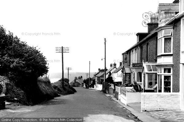 Photo of Aberporth, High Street c.1955