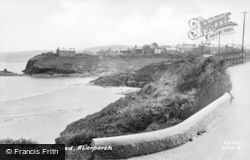 Aberporth, Shore From The Road c.1950