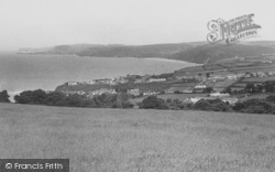 Aberporth, The Bay And Village c.1955