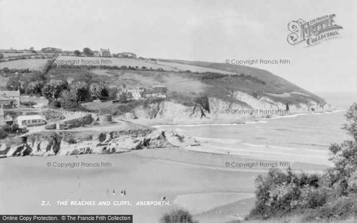 Photo of Aberporth, The Beaches And Cliffs c.1960