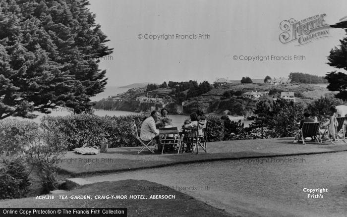 Photo of Abersoch, Craig Y Mor Hotel, Garden c.1955