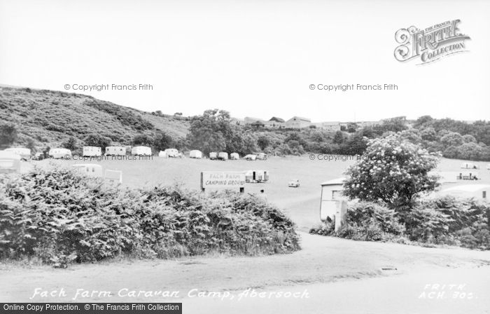 Photo of Abersoch, Fach Farm Caravan Park c.1955