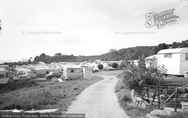 Photo of Abersoch, Fach Farm Caravan Park c.1965