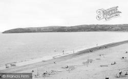 Abersoch, The Beach And Headland c.1955