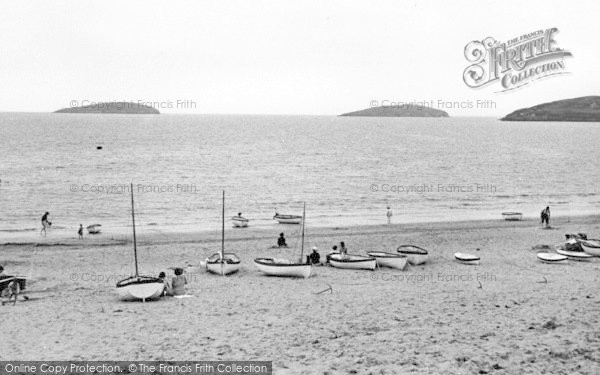 Photo of Abersoch, The Beach And St Tudwals Island c.1955