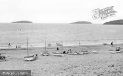 Abersoch, The Beach And St Tudwals Island c.1955