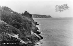 Abersoch, The Cliffs c.1955