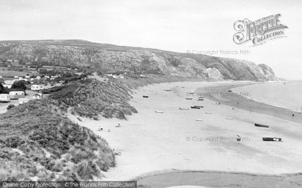Photo of Abersoch, The Warren And Beach c.1955