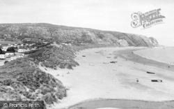 Abersoch, The Warren And Beach c.1955