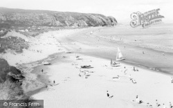 Abersoch, Warren Beach, Warren Caravan Park c.1965