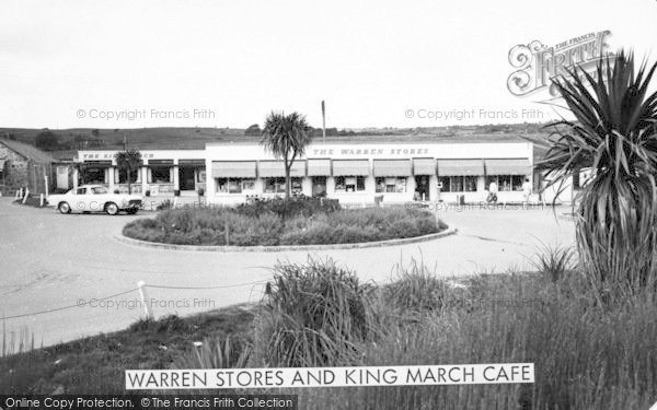 Photo of Abersoch, Warren Stores And King March Cafe c.1965
