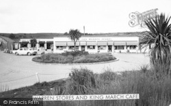 Abersoch, Warren Stores And King March Cafe c.1965