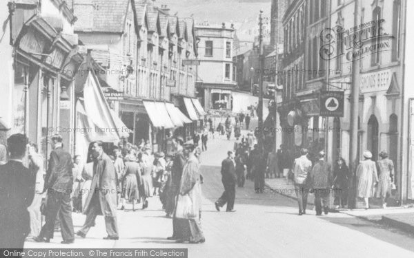 Photo of Abertillery, Pedestrians In Church Street c.1955
