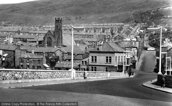 Photo of Abertillery, The New Bridge c.1955