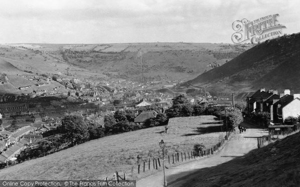 Photo of Abertillery, View From Blainau c.1955