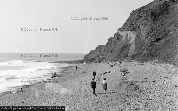 Photo of Aberystwyth, Beach And Cliff 1949