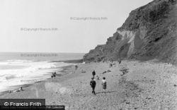 Aberystwyth, Beach And Cliff 1949