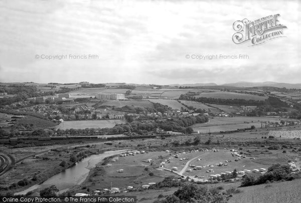 Photo of Aberystwyth, Caravan Site And National Library Of Wales 1960