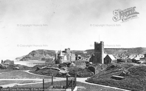 Photo of Aberystwyth, Castle Grounds c.1950