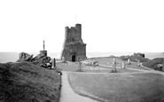 Aberystwyth, Castle Ruins And Eisteddfod Circle 1964