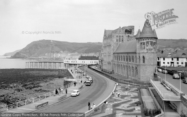 Photo of Aberystwyth, College and Seafront 1964