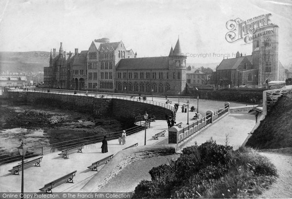 Photo of Aberystwyth, College And St Michael's Church 1906