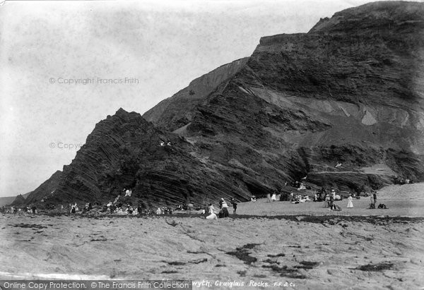 Photo of Aberystwyth, Craiglais Rocks 1903