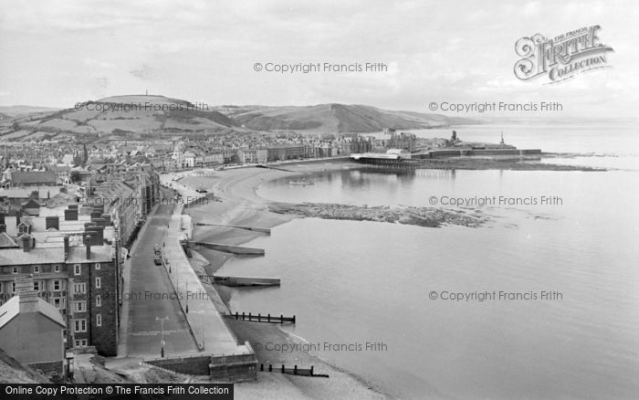 Photo of Aberystwyth, From Constitution Hill 1960