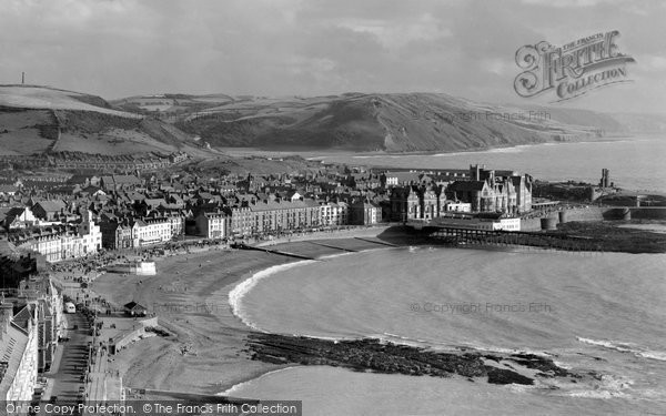 Photo of Aberystwyth, From Constitution Hill c.1958