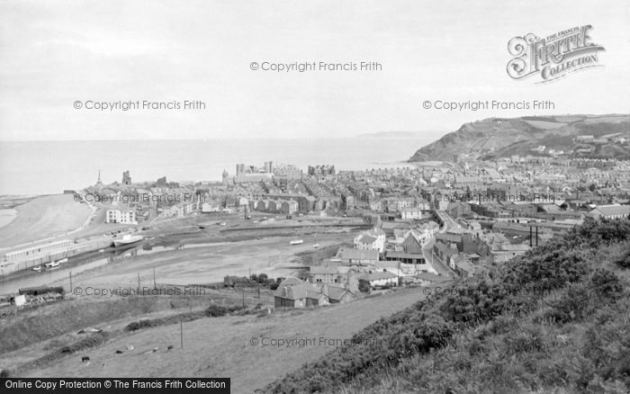 Photo of Aberystwyth, From Pen Dinas 1960