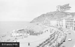 Aberystwyth, Marine Terrace And Beach 1960