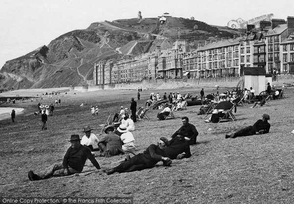 Photo of Aberystwyth, On The Beach 1921