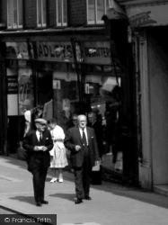 Aberystwyth, Outfitter's Shop, Great Darkgate Street 1964