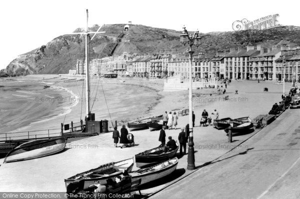 Photo of Aberystwyth, Promenade And Beach c.1930
