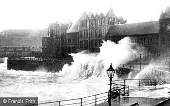 Aberystwyth, Rough Sea c1930
