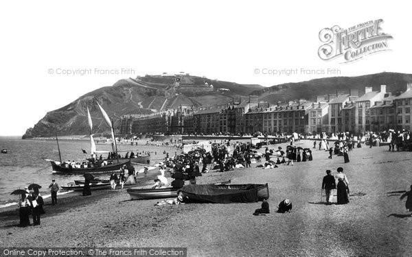 Photo of Aberystwyth, The Beach 1899