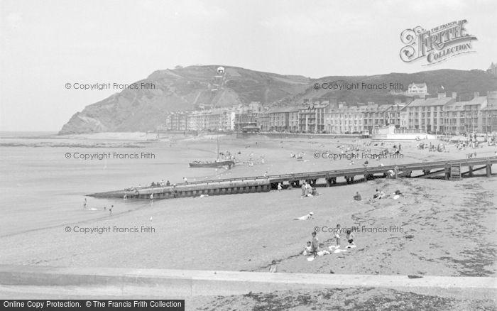 Photo of Aberystwyth, The Beach 1952