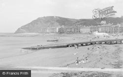 Aberystwyth, The Beach 1952