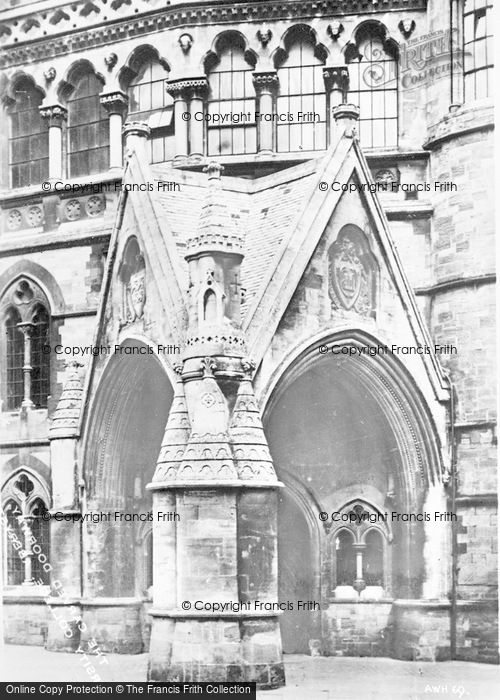Photo of Aberystwyth, The Carved Doorway, University College c.1930