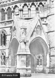 Aberystwyth, The Carved Doorway, University College c.1930