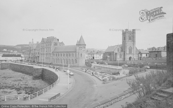 Photo of Aberystwyth, The College And Church 1964