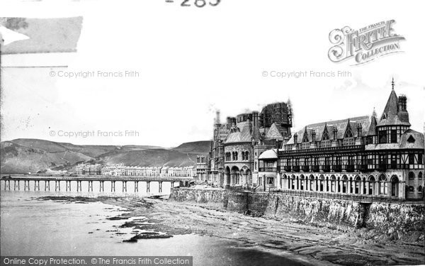 Aberystwyth, the Pier and Old College c1885