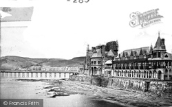 Aberystwyth, The Pier And Old College c.1885